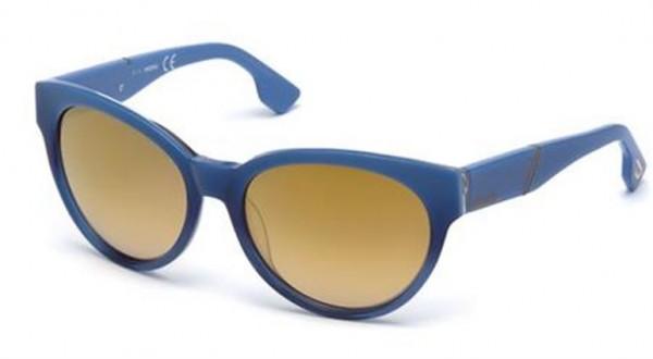 Modré dámské sluneční brýle Diesel