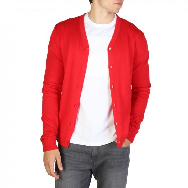 Červený svetr Armani Exchange pánský na knoflíky