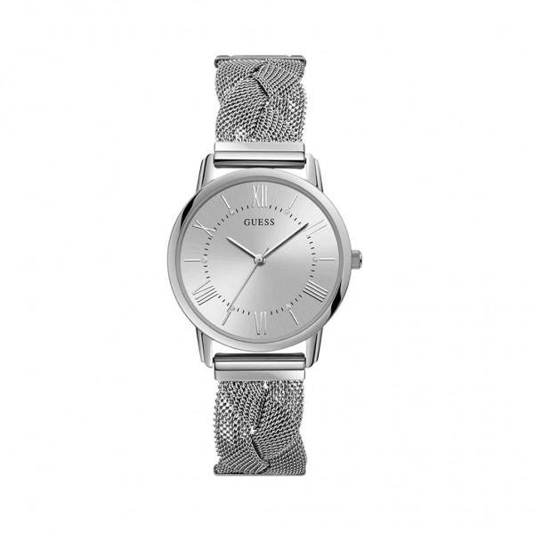 Šedé Guess dámské hodinky stříbrné