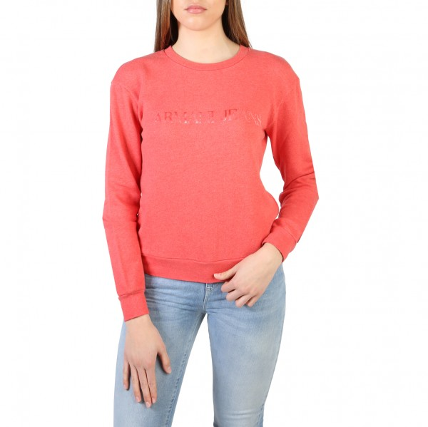Červená mikina Armani Jeans dámská s logem