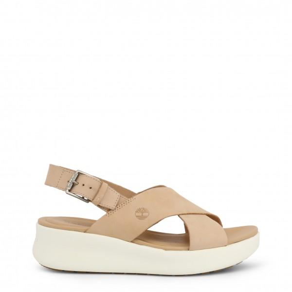 Hnědé dámské boty Timberland na klínku