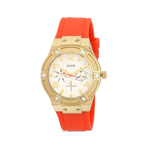 Dámské Guess stylové hodinky oranžové