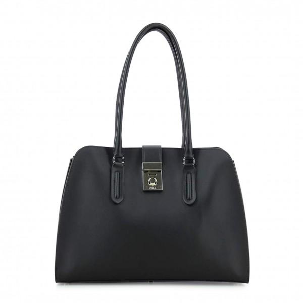 Kožená kabelka Furla dámská černá