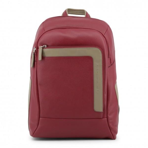 Červený kožený batoh Piquadro pánský