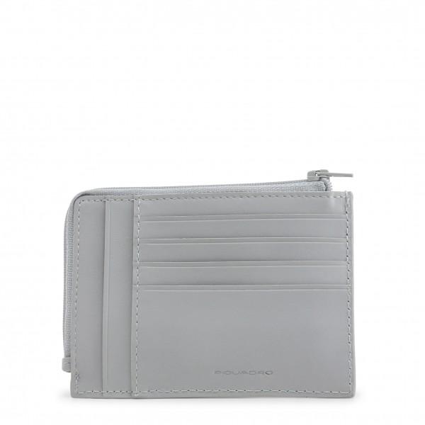 Šedá pánská peněženka Piquadro kůže