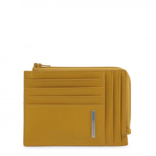 Kožená žlutá peněženka Piquadro pánská