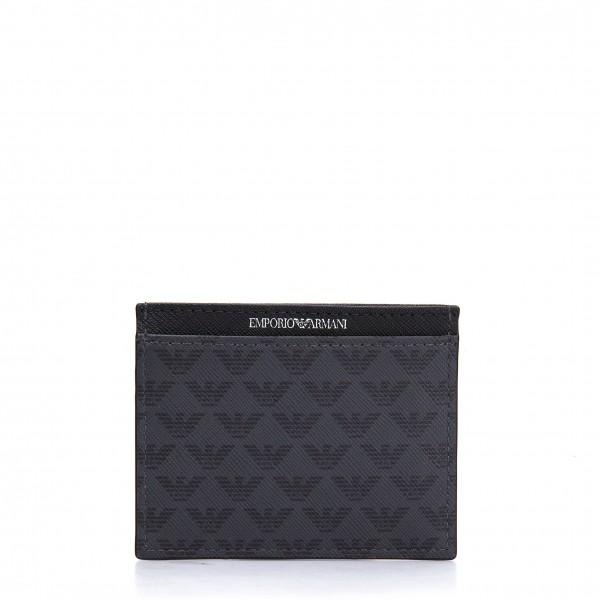 Černá peněženka Emporio Armani s logem pánská
