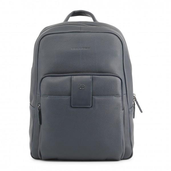 Kožený pánský batoh Piquadro modrý