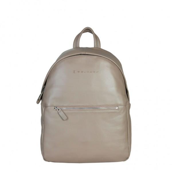 Hnědý kožený batoh Piquadro panský