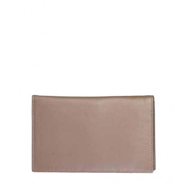 Kožená hnědá peněženka Made in Italia unisex