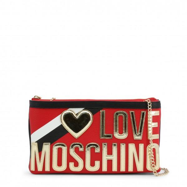 Dámské psaníčko Love Moschino červené s pruhem