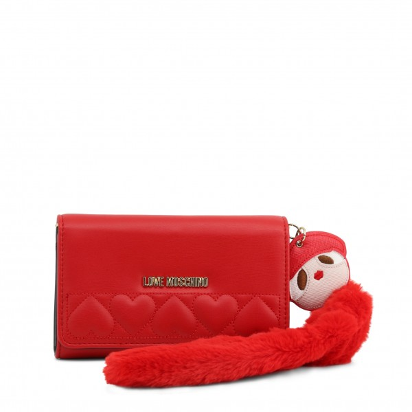 Červené dámské psaníčko Love Moschino