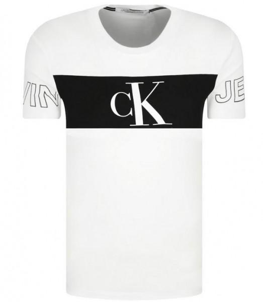 Pánské tričko Calvin Klein Jeans bílé monogram