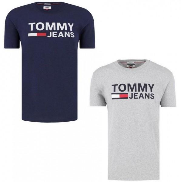 Pánská trička TOMMY JEANS 2 pack - modrá (navy) / šedá