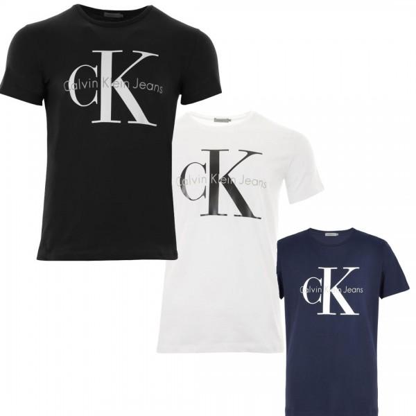 Pánská trička Calvin Klein 3 pack - bílá / černá / modrá (navy)