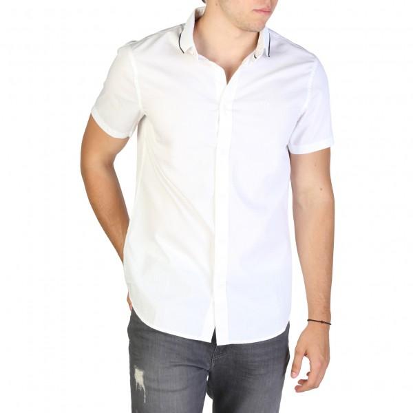 Bílá košile Armani Exchange krátký rukáv pánská