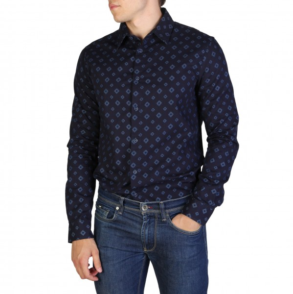 Košile se vzorem Armani Jeans pánská modrá