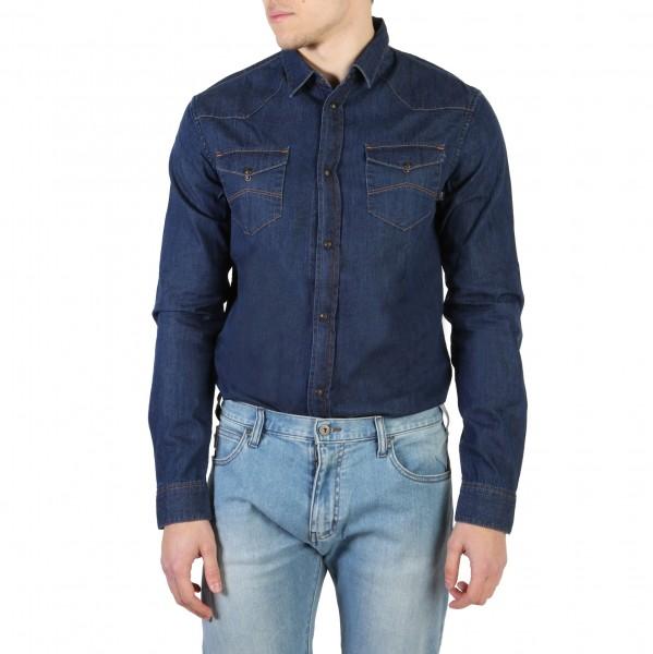 Modrá košile Armani Jeans pánská