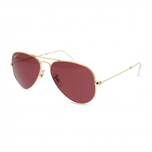 Zlaté unisex sluneční brýle Ray-Ban