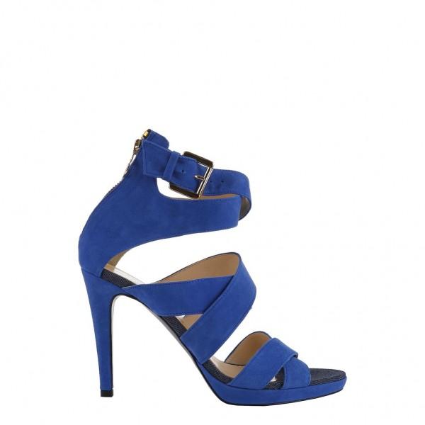 Dámské modré boty na podpatku Trussardi