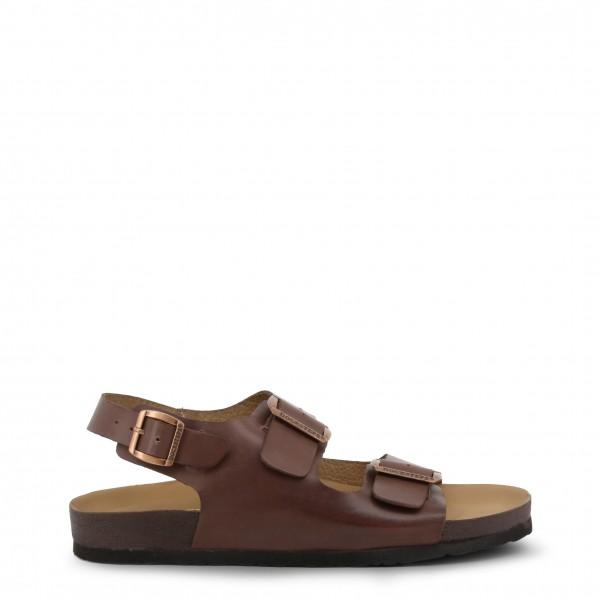 Pánské kožené hnědé sandály Docksteps VEGA