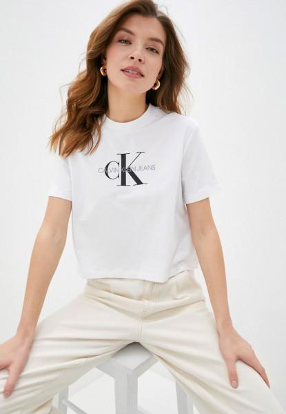 Dámské triko Calvin Klein Jeans bílá monogram