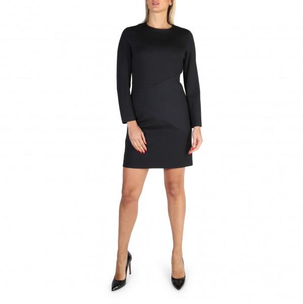 Dámské šaty Tommy Hilfiger černé s dlouhým rukávem