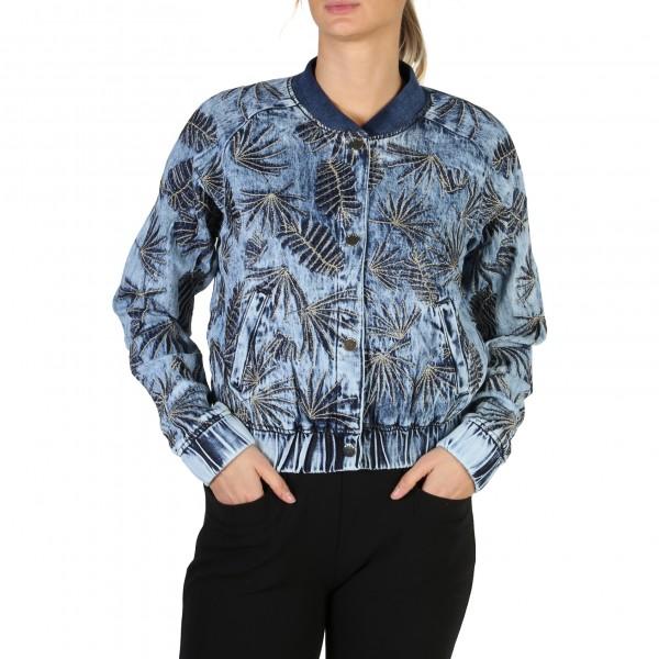 Modrá Guess dámská bunda s květy