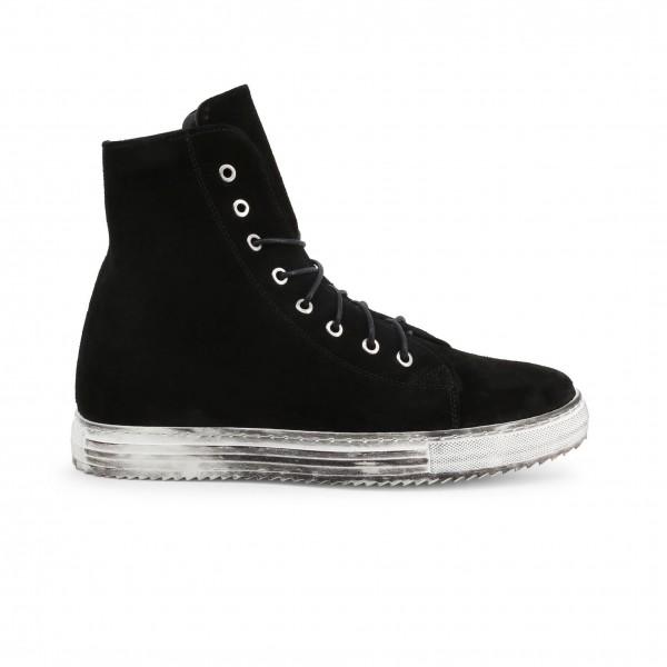 Černé kotníkové pánské boty R21 RICKY