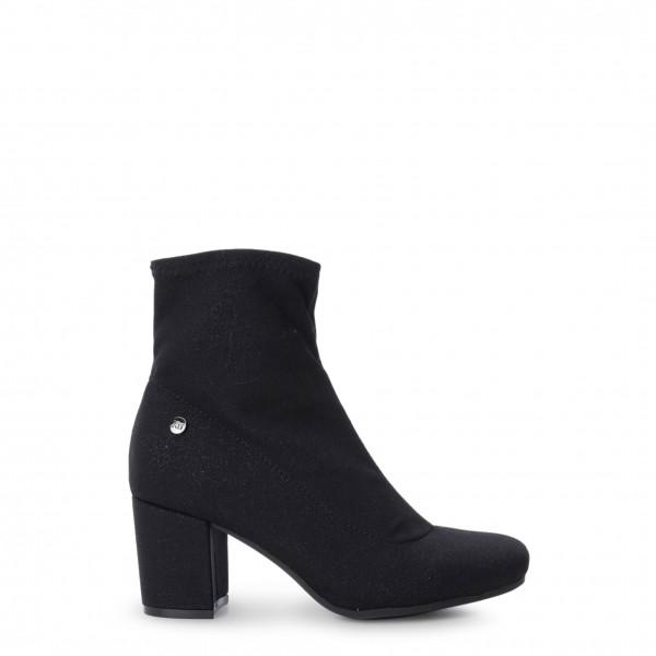 Elegantní dámské černé kotníkové boty Xti