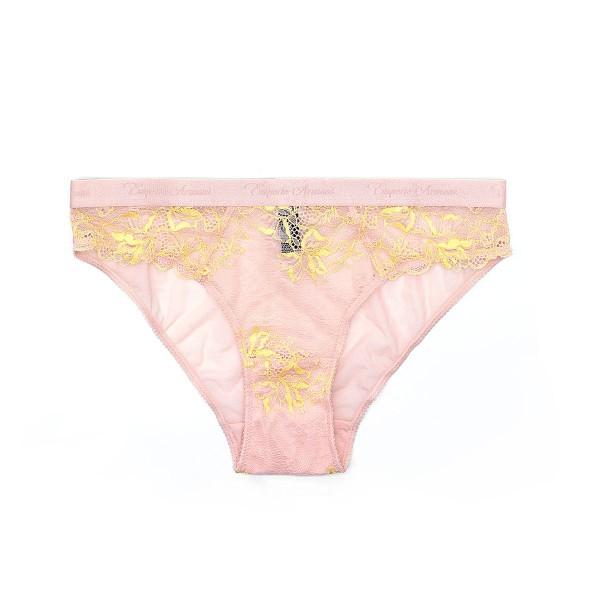 Dámské růžové krajkové kalhotky