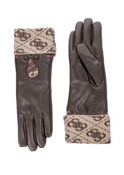 Dámské zimní rukavice Guess, hnědé