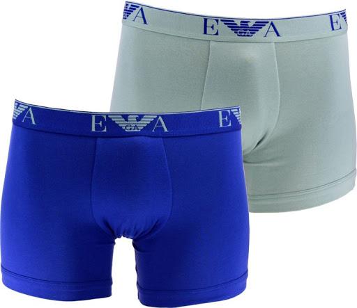 Boxerky Emporio Armani 2 pack - modrá, šedé
