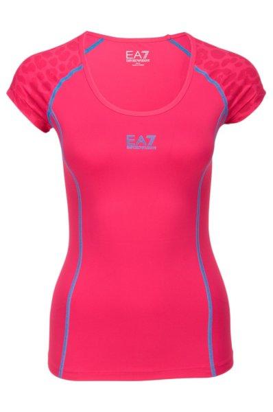 Dámské sportovní tričko Emporio Armani růžové