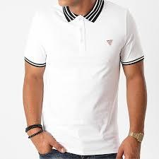 Pánské bílé POLO triko, Guess