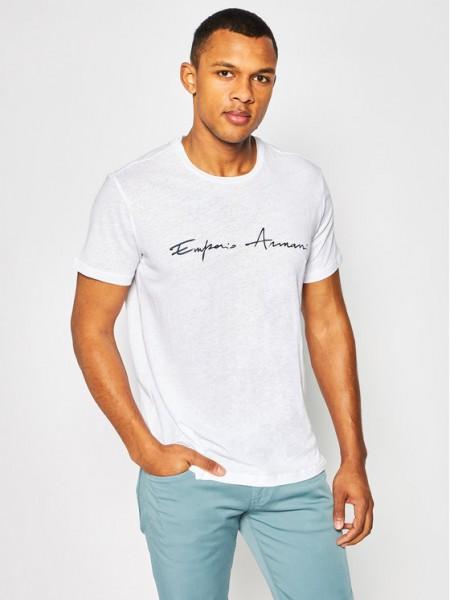 Pánské bílé tričko Emporio Armani