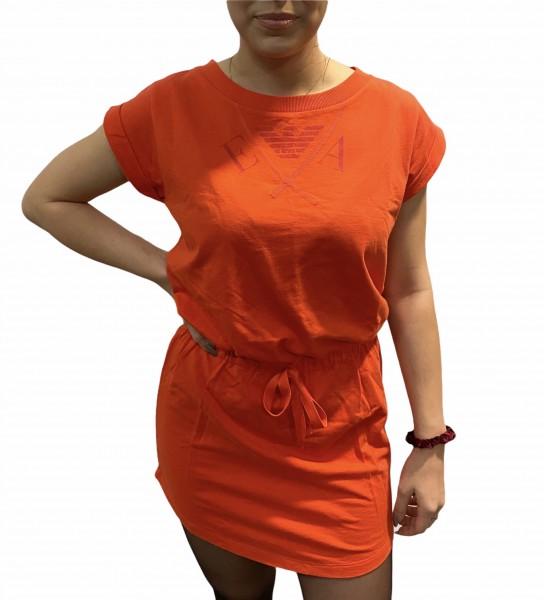 Mikinové šaty Emporio Armani, korálové