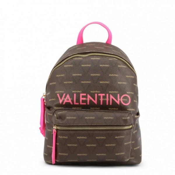 Hnědý batoh Valentino, pink