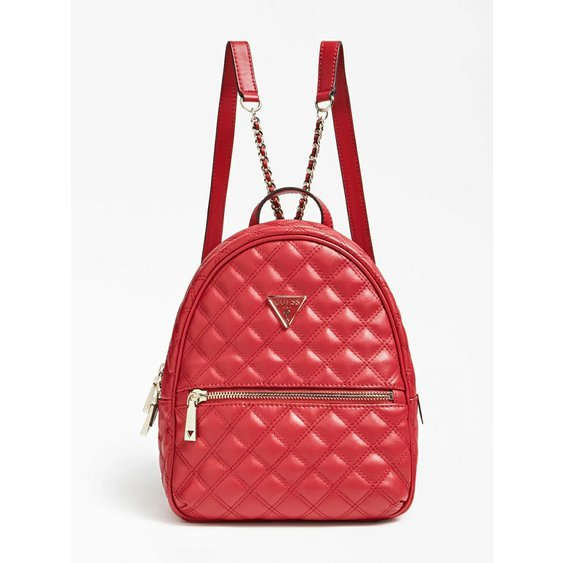 Červený batoh Guess s logem