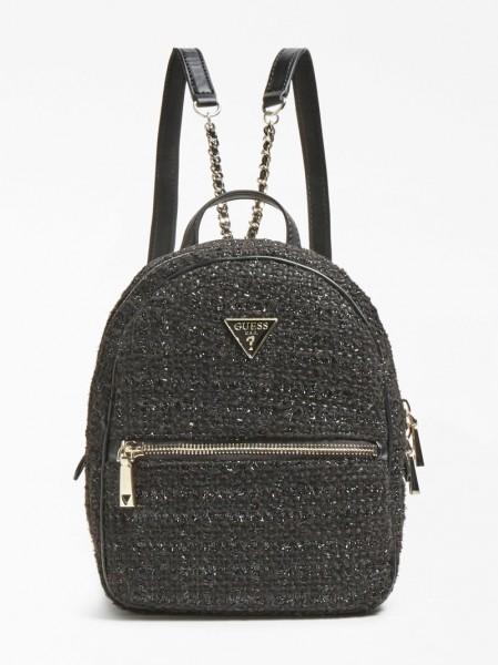 Černý batoh Guess s logem