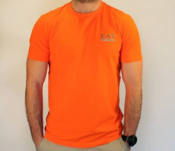 Pánské tričko Emporio Armani, oranžové