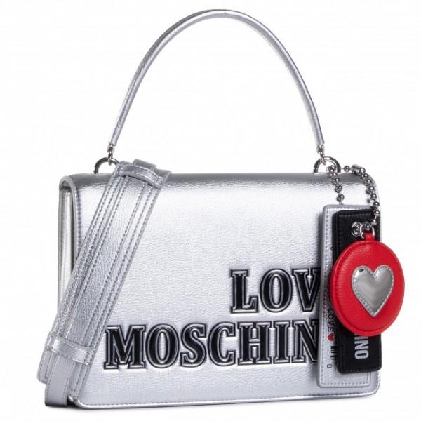 Dámská kabelka LOVE MOSCHINO, stříbrná