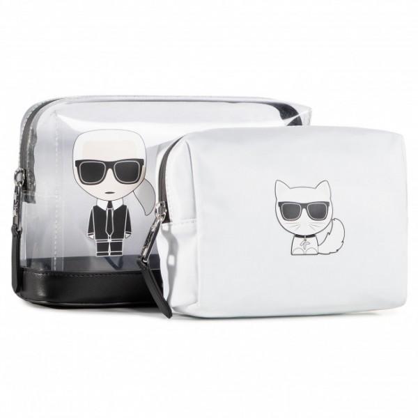 Kosmetická taška Karl Lagerfeld 2v1, bílá